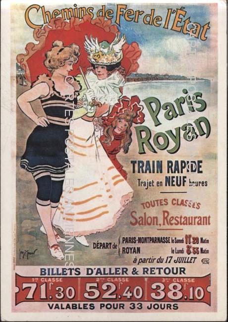 Cartes postales anciennes chemin de fer   train Pub chemin de fer