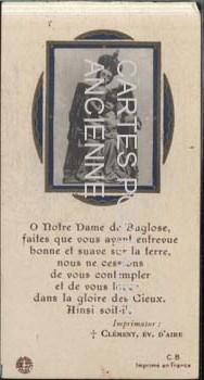 Postcards religion image Souvenirs communion