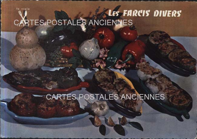 Cartes Postales Anciennes France Fantaisie Cuisine Recettes