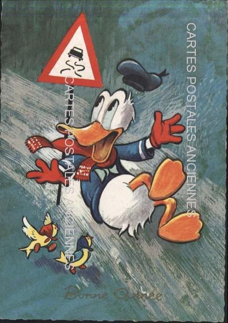 Old postcards fantasy Walt disney