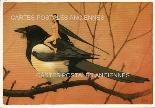 Old postcards animals Animals fantasy