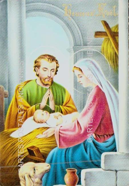 Postcards religion image Fêtes noël