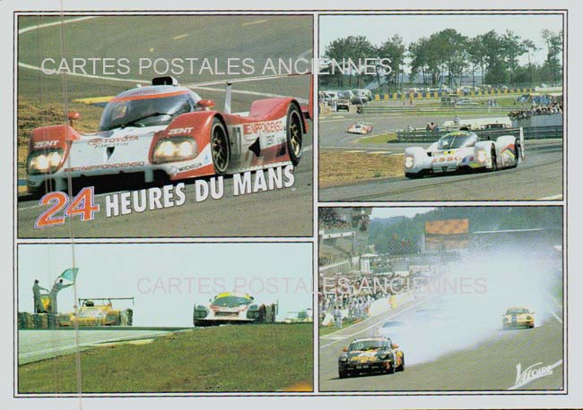 Old postcards car motorcycle Postcards old racing cars