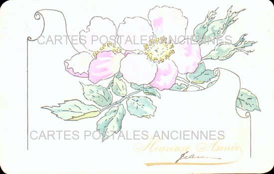 Vintage postcards fantasy Vintage postcards illustrator Iilustrateur fleurs