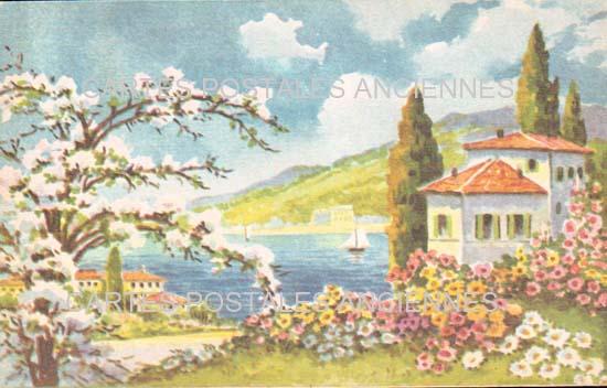 Old postcards fantasy Illustrator Iilustrateur villes villages