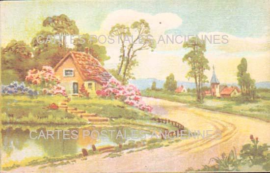 Cartes postales anciennes fantaisie Illustrateur Iilustrateur villes villages