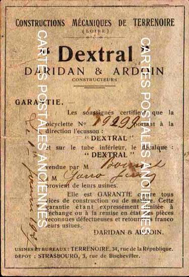 Postcards advertising Ancien document