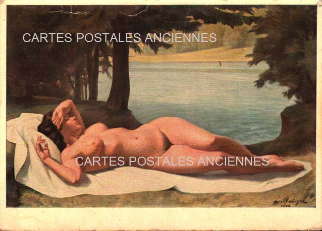Old postcards painting, sculpture Old postcards woman portrait