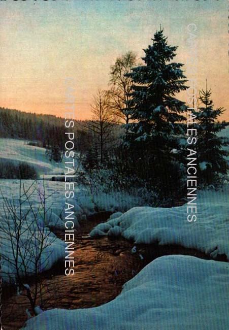 Cartes postales anciennes paysage Paysage neige