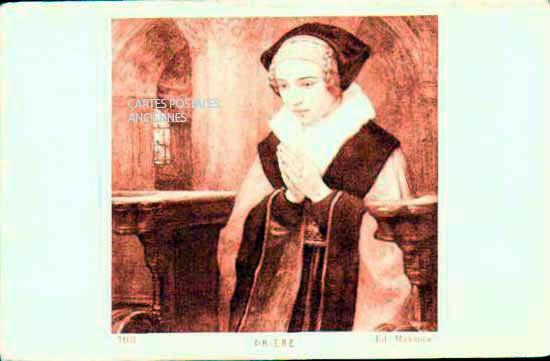 Cartes Postales Anciennes Religion Prière