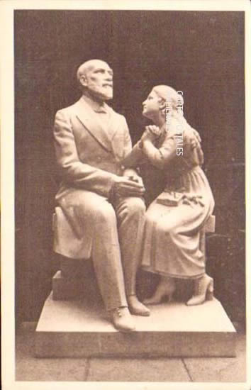 Old postcards painting, sculpture  sculpture
