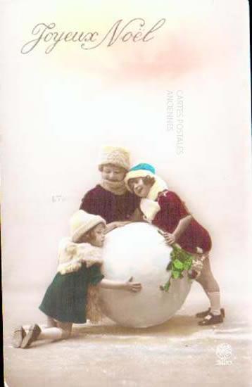 Old postcards fantasy personages Joyeux noël