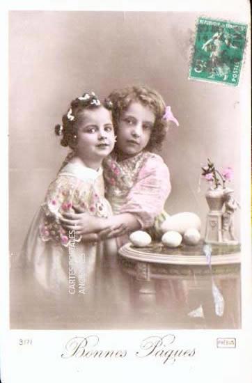 Old postcards fantasy personages Joyeuses pâques