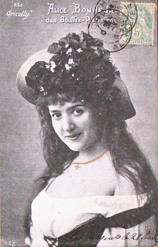 Old postcards fantasy personages Femmes célèbres