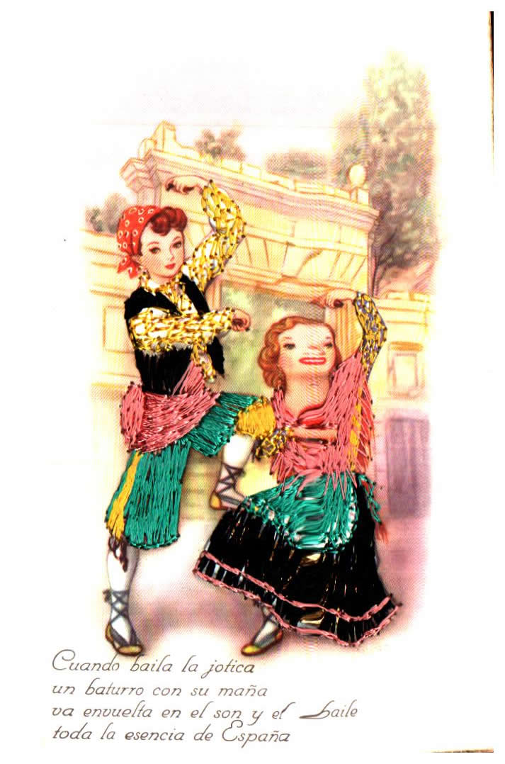 Old postcards tradition Spanish tradition