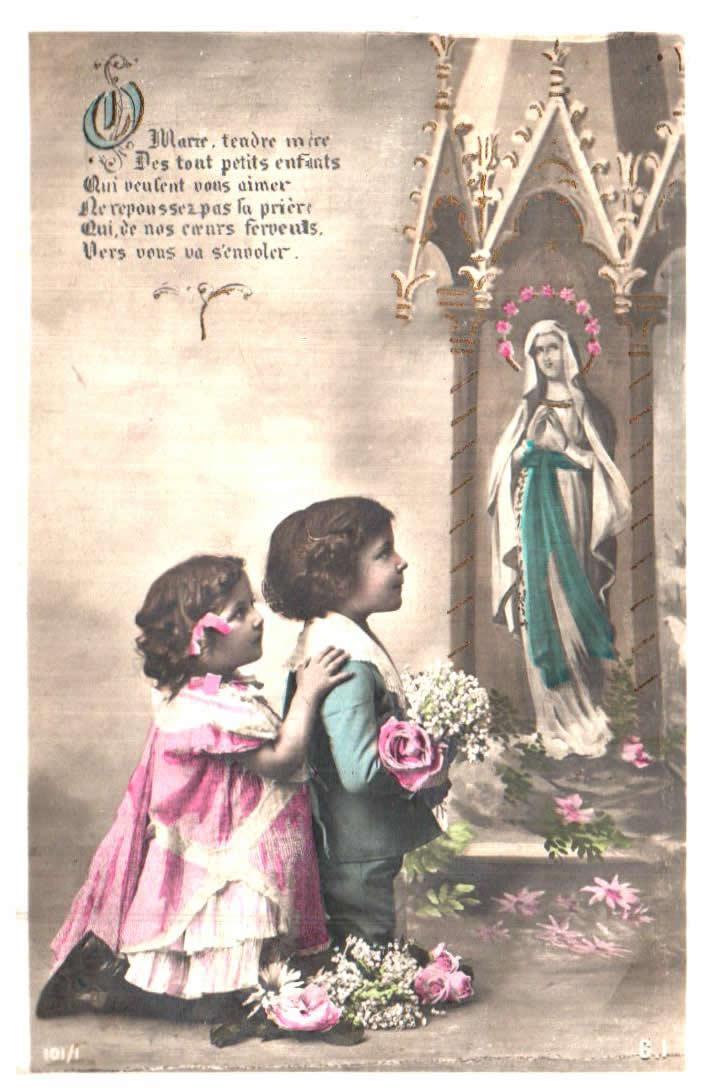 Cartes Postales Anciennes  religion La vierge
