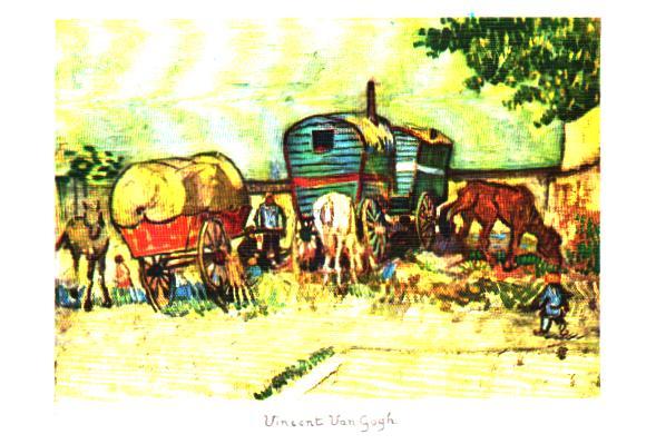 Old postcards painting, sculpture  tableau paysage