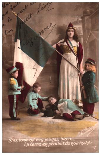 Cartes postales anciennes militaire Drapeaux