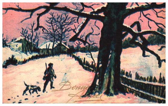 Cartes postales anciennes fantaisie Chasse