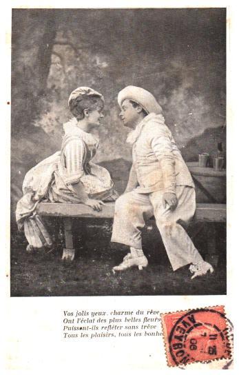 Old postcards fantasy personages Epoque