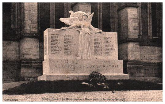 Old postcards military, army soldier Monuments