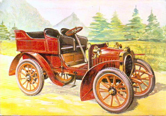 Old postcards car motorcycle Antique cars