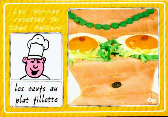 Cartes postales anciennes humour Humour cuisine