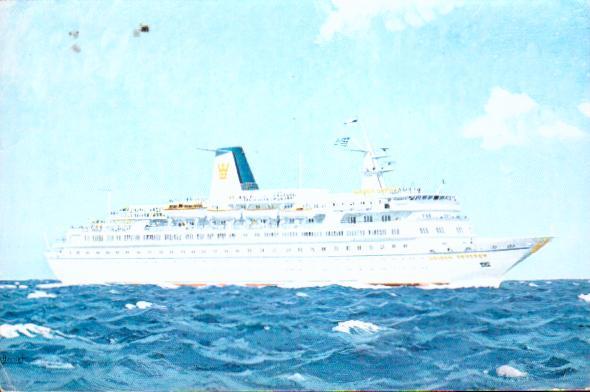 Old postcards boat sea Paquebots
