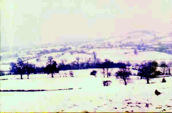 Cartes postales anciennes fantaisie Paysage neige
