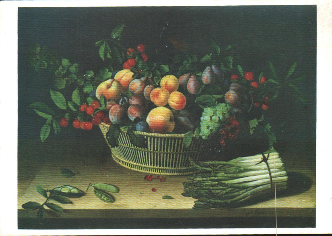 Cartes Postales Anciennes Fantaisie Fruits légumes
