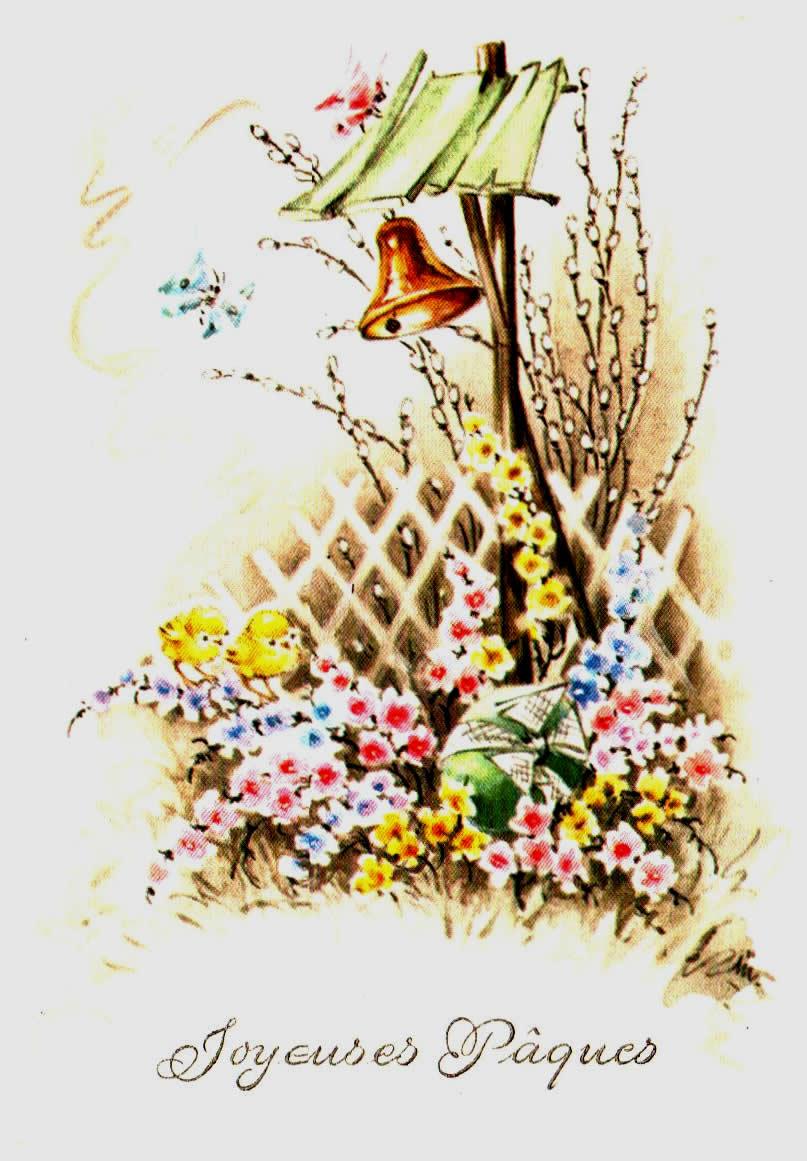 Cartes Postales Anciennes  fantaisie Fantaisie pâques
