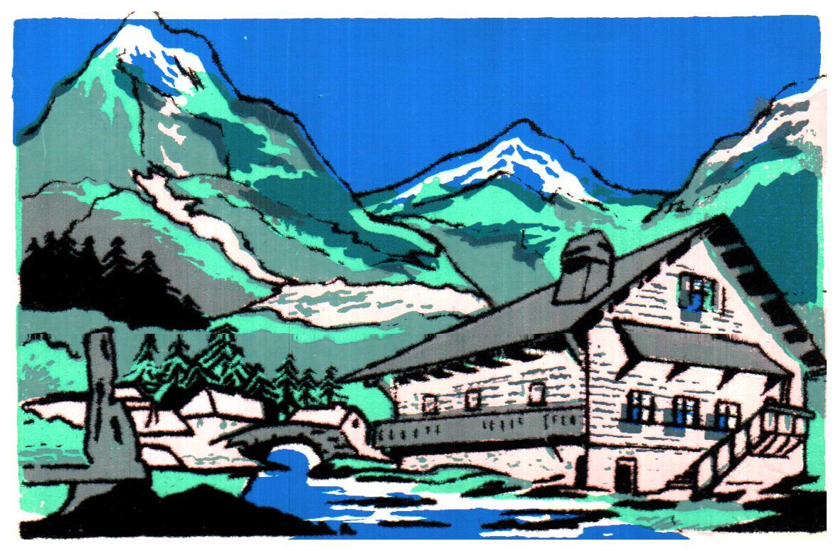 Cartes postales anciennes paysage Paysage campagne