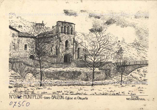 Cartes Postales Anciennes France Ardèche  Montpezat Sous Bauzon