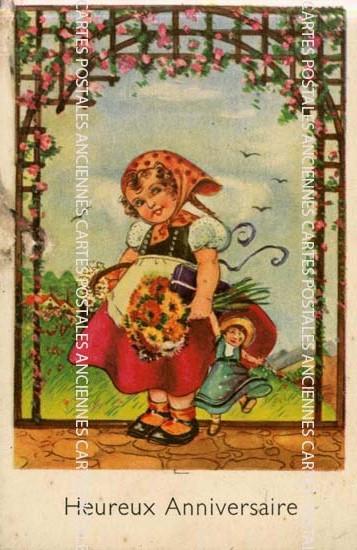 Cartes Postales Anciennes France Fantaisie Fantaisie anniversaire