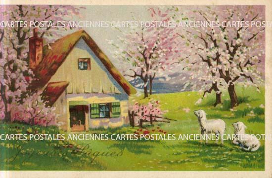 Old postcards fantasy Fantaisie pâques