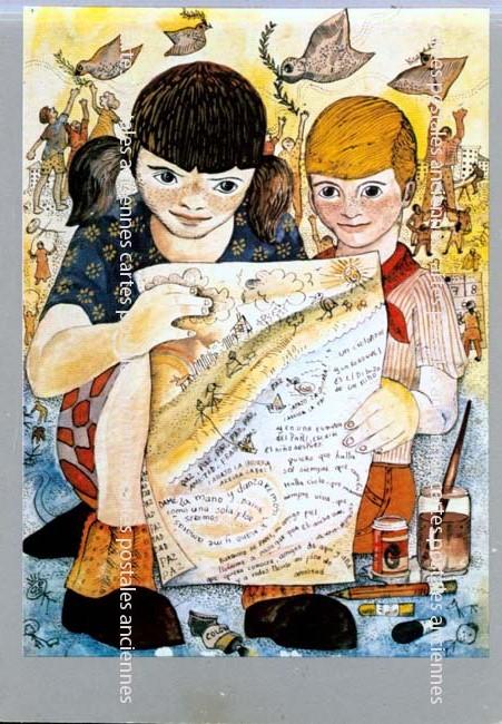 Cartes postales anciennes fantaisie Amitié