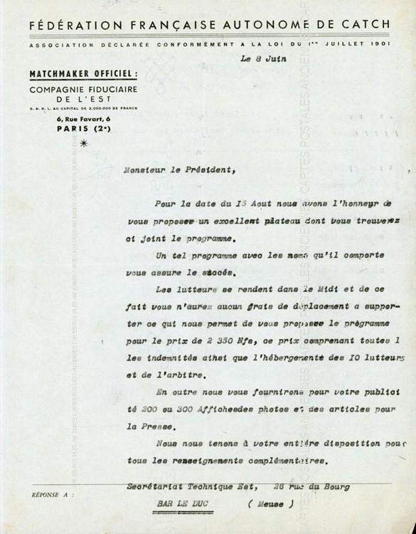 Autres collections  vieux documents  lettres