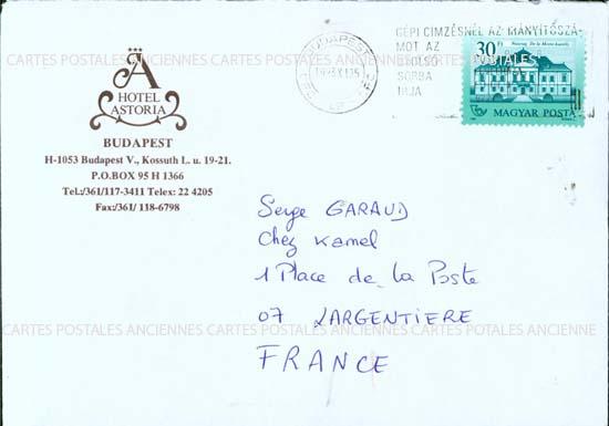 Autres collections  philatélie  timbres Marques postales  Hongrie