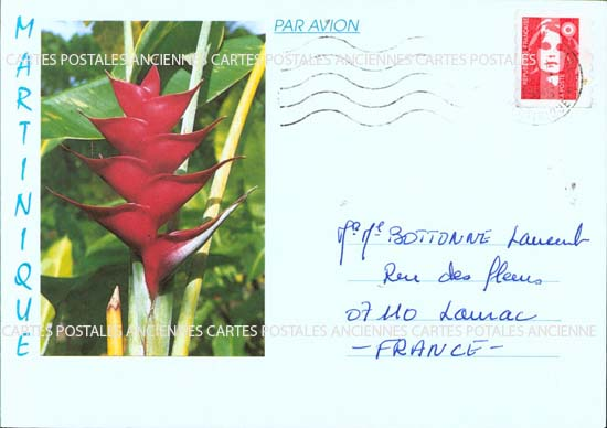 Timbres postes Collection stamps france Martinique timbres