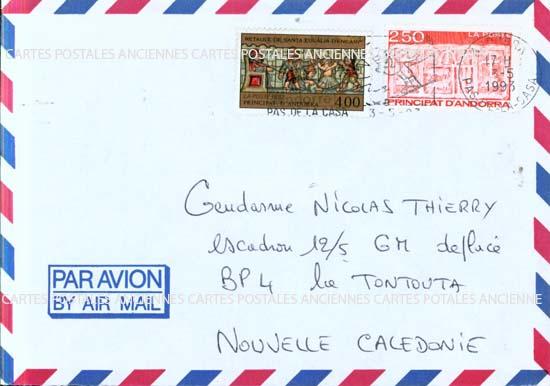 Autres collections  philatélie  timbres Marques postales  Andorre