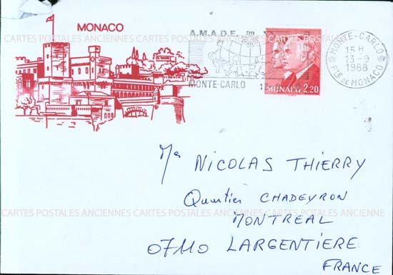 Timbres postes Monaco