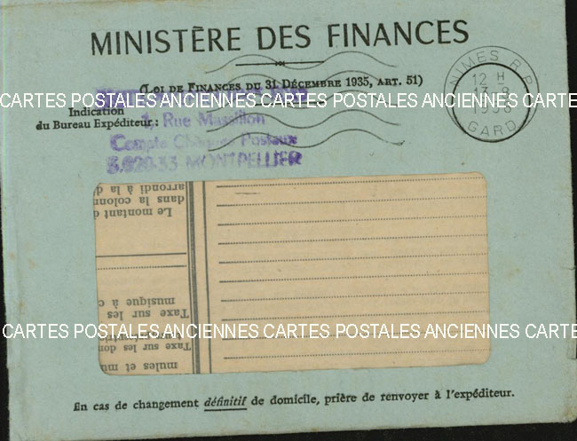 Timbres postes Collection stamps france France marque postale 1958