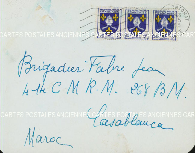 Timbres postes Collection stamps france France marque postale 1955