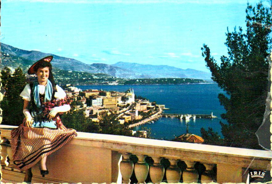 Old postcards tradition Monaco