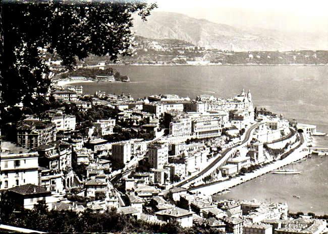 Old postcards monaco