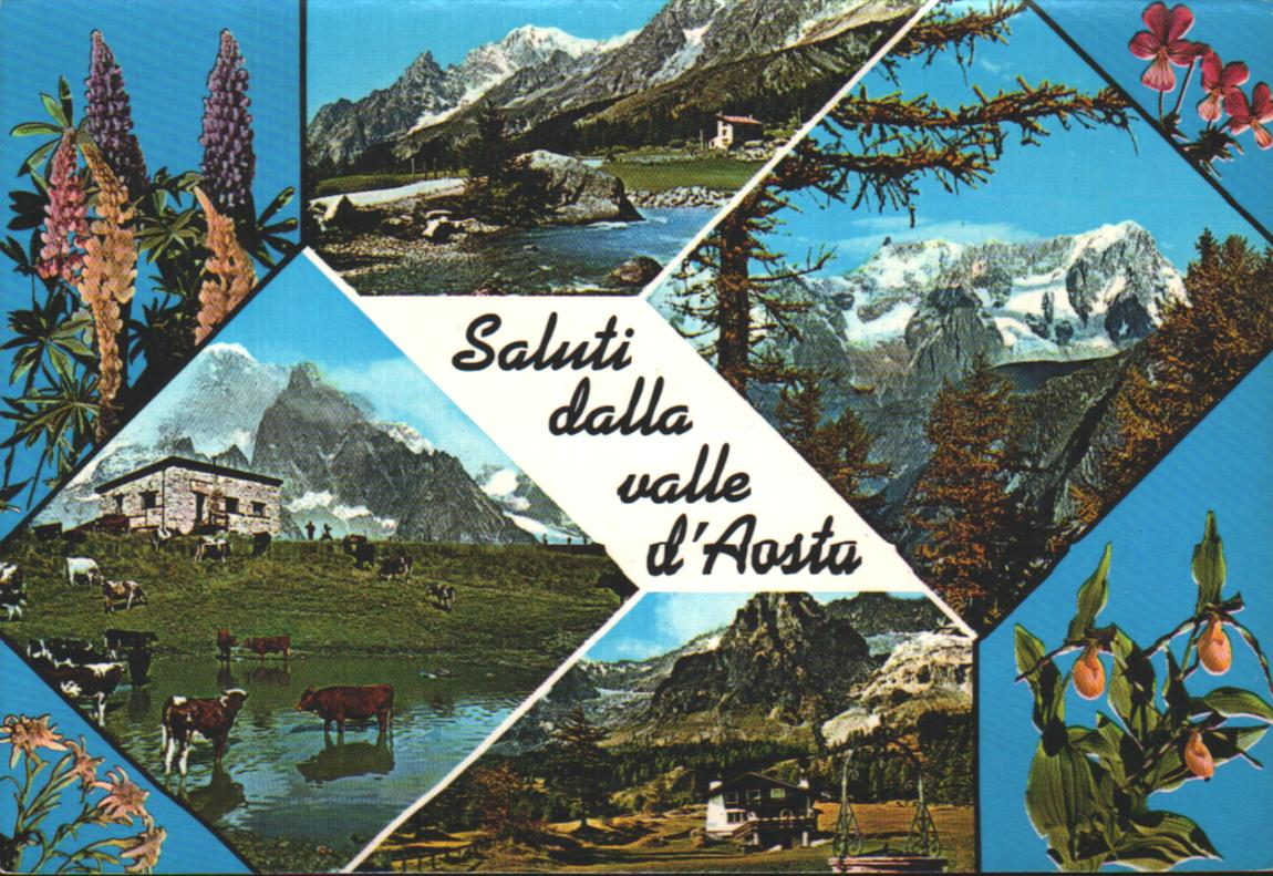 Union européenne Old postcards italy Aoste italie