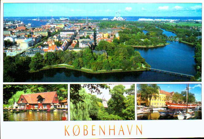 Old european union postcards Denmark Kobenhavn