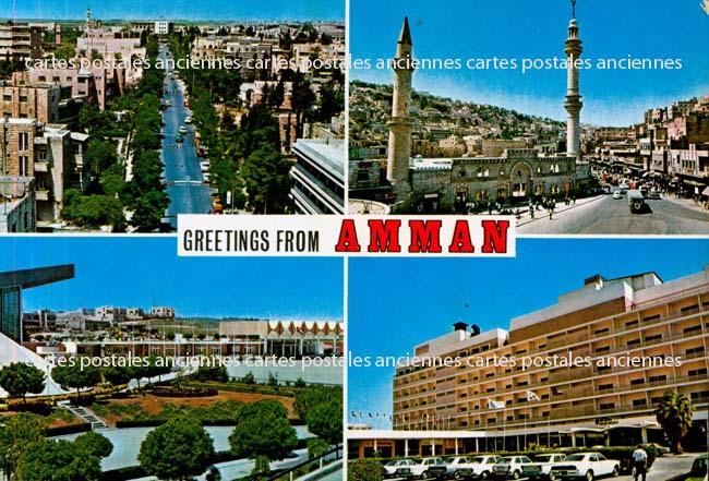 Cartes Postales Anciennes Monde Jordanie Amman