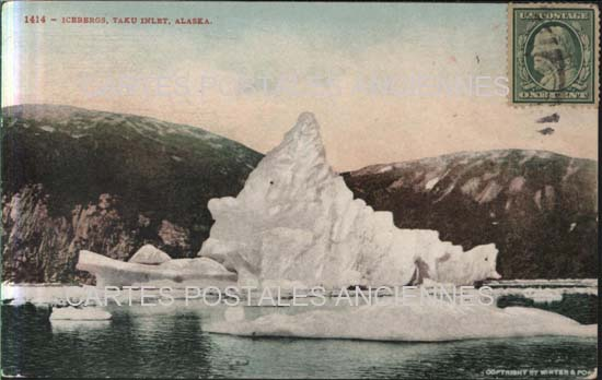 Monde Old postcards united states Alaska Juneau