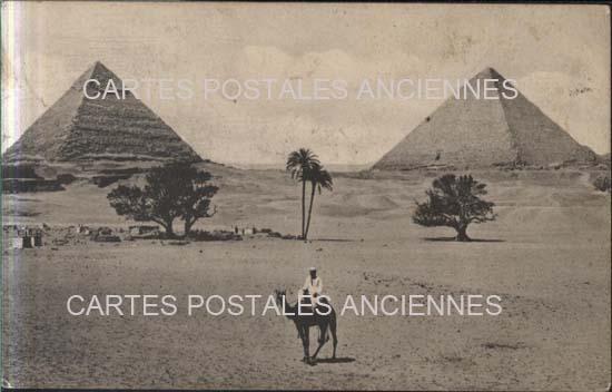 Cartes Postales Anciennes France Monde Egypte Gizeh